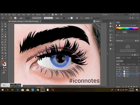 How to draw eye - vector art (illustrator tutorial)