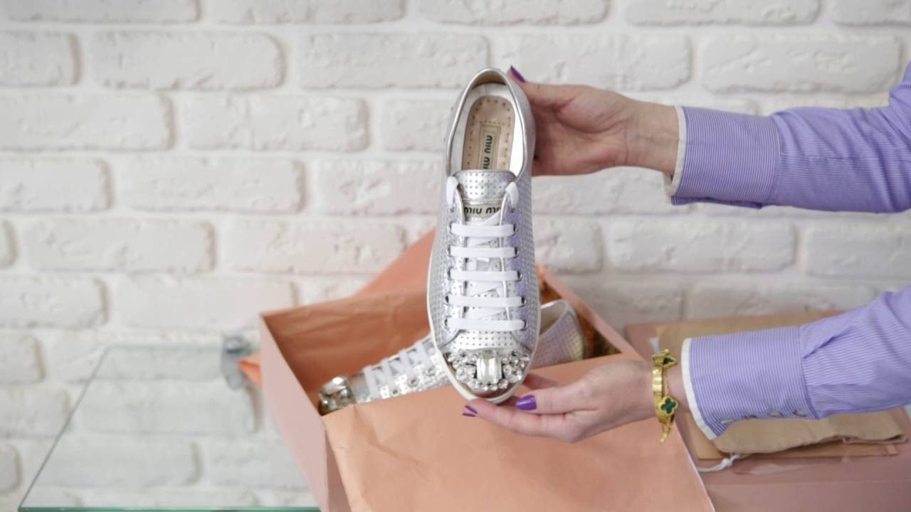 miu miu silver shoes - YouTube