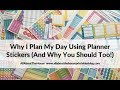 How (and why) I use planner stickers to plan my week - and why you should too! (functional planning)