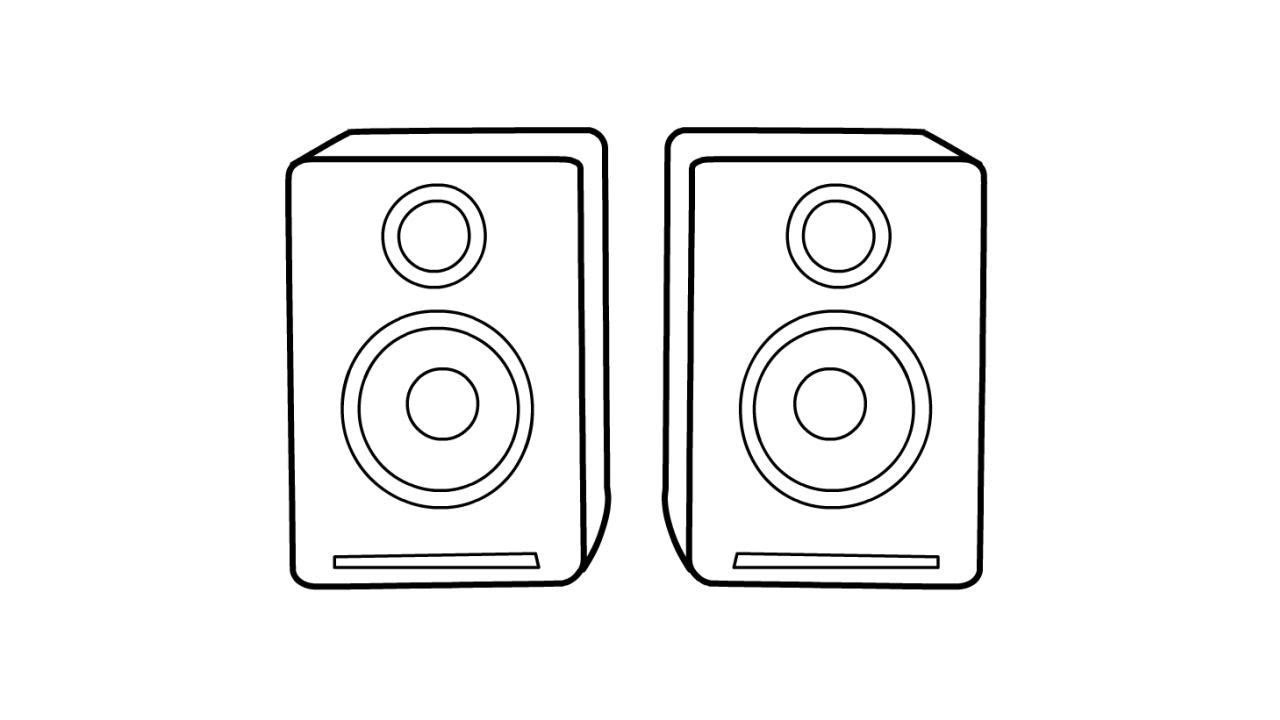 how to draw a speaker