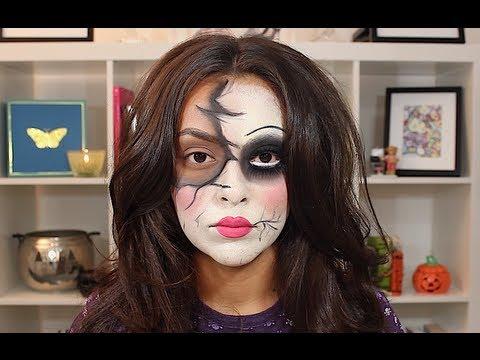 Broken Doll Halloween Makeup Tutorial - TrinaDuhra