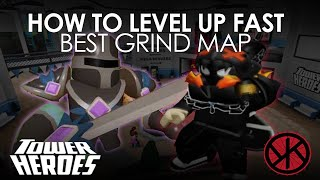 [Roblox] Tower Heroes - H๐w To LEVEL UP FAST - Best Map to Grind Solo as of Sept 1, 2020