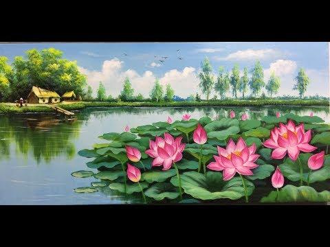 vẽ tranh đồng quê  sơn dầu, acrylic