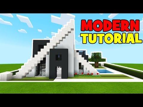 Minecraft Tutorial How To Make A Modern A Frame House Youtube