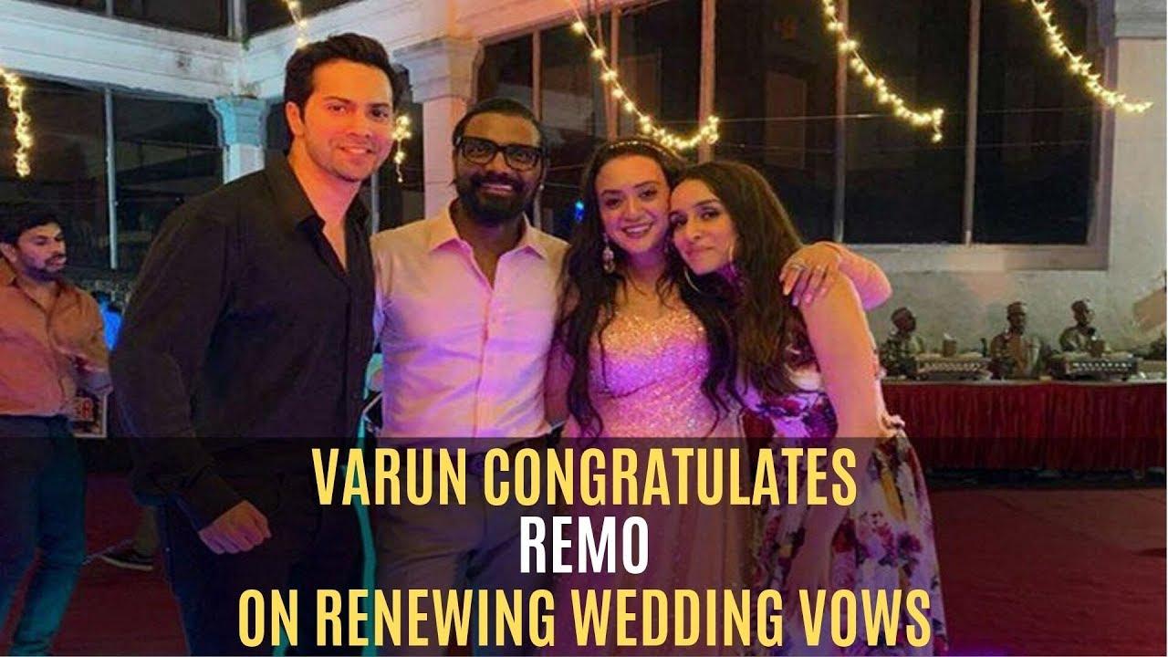 Varun Dhawan Congratulates Remo D'Souza On Renewing Wedding Vows With Lizelle | SpotboyE