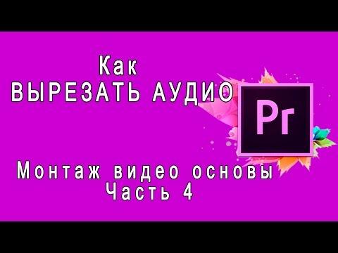 Как удалить звук из видео в adobe premiere pro