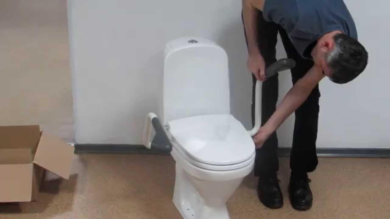 Поручни для туалета CF03-1042 - YouTube