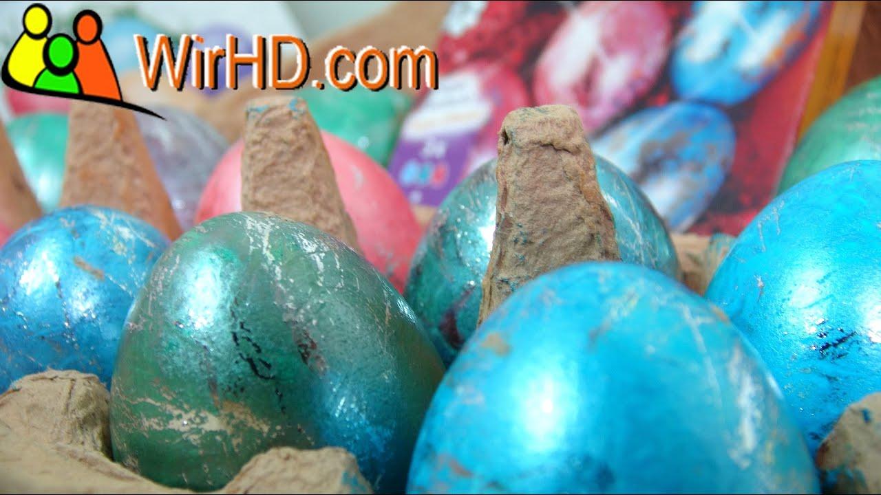 Eier färben, Glitzer Ostereier, Coloring Easter Eggs, Basteln zu ...