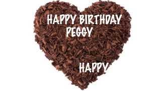 Peggy - chocolate - Happy Birthday