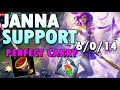 PERFECT Carry Janna Support season 10 Build League of Legends - Janna Support LOL S10 Gameplay