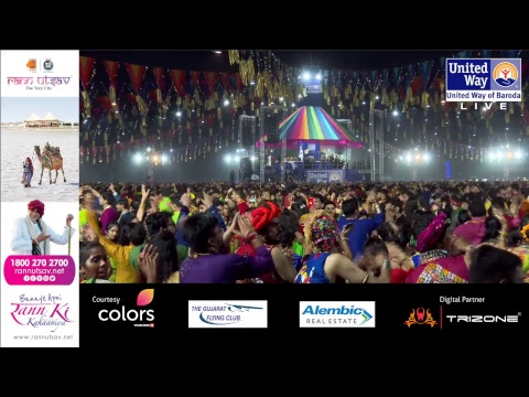 United Way Baroda - Garba Mahotsav By Atul Purohit - Day 3 - Live Stream
