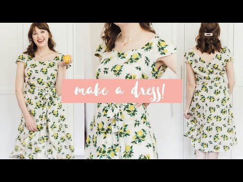 How To Make A Dress From Scratch: Sewing My Favorite Easy Beginner Pattern!