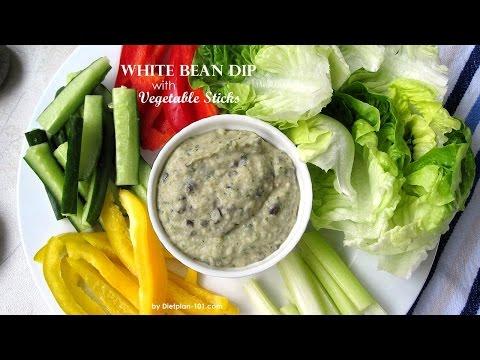 White Bean Dip with Vegetable Sticks | Dietplan-101.com