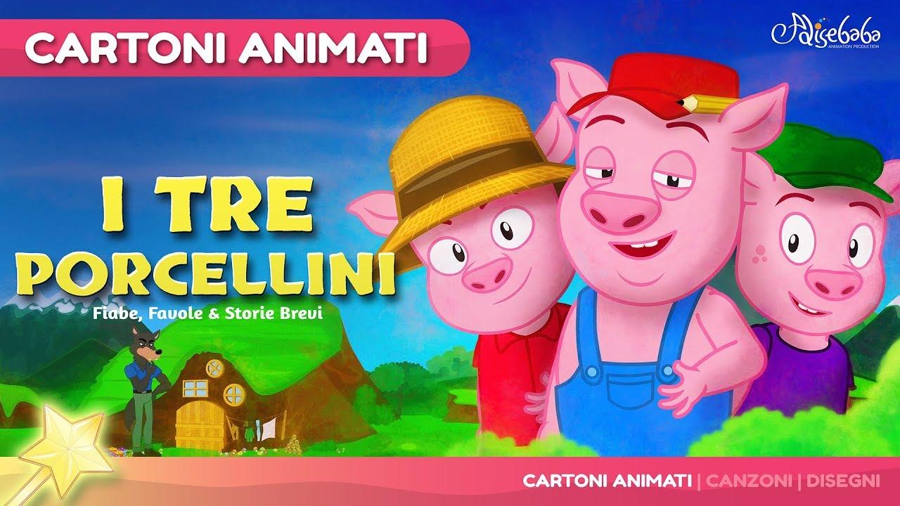 I tre porcellini 😊 storie per bambini cartoni animati