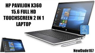 BRAND NEW HP PAVILION X360 15.6 FULL HD TOUCHSCREEN 2 IN 1 LAPTOP REVIEW