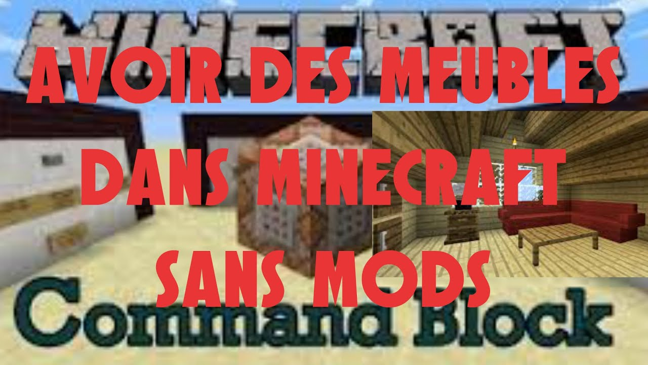 tuto avoir des meubles sur minecraft sans mods youtube. Black Bedroom Furniture Sets. Home Design Ideas