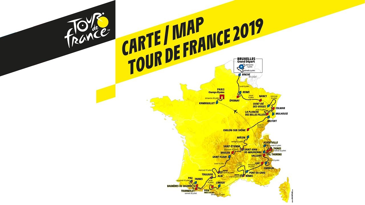 Le Tour De France 2019 Map   Tour de France 2019   YouTube
