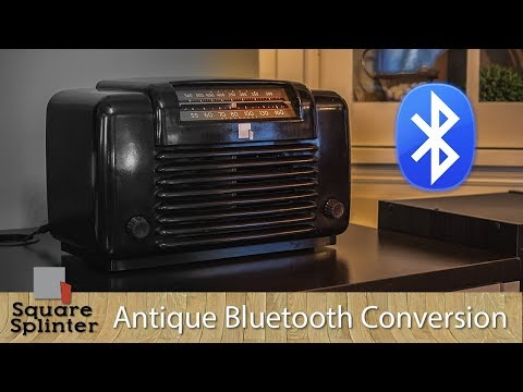 Easy Way to Convert Antique Vintage Radio to Bluetooth with New Speakers | Under $40 TOTAL