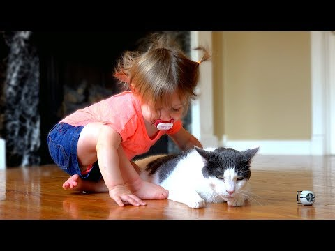 Baby Loves Her Kitty - Too Cute!!!