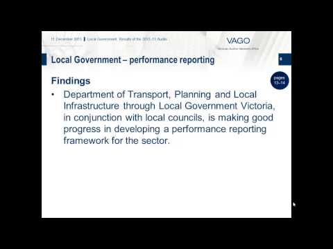 VAGO - Local Government: Results of the 2012-13 Audits