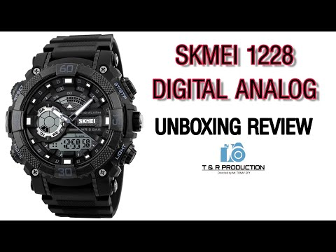 SKMEI 1228 || DIGITAL ANALOG WATCH 🔥 UNBOXING REVIEW 2019 || FLIPKART