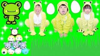 ★カエルごっこ!「秘密基地で『ツムツムチョコエッグ』発見~!★Chocolate egg Disney TSUM TSUM selection★ thumbnail
