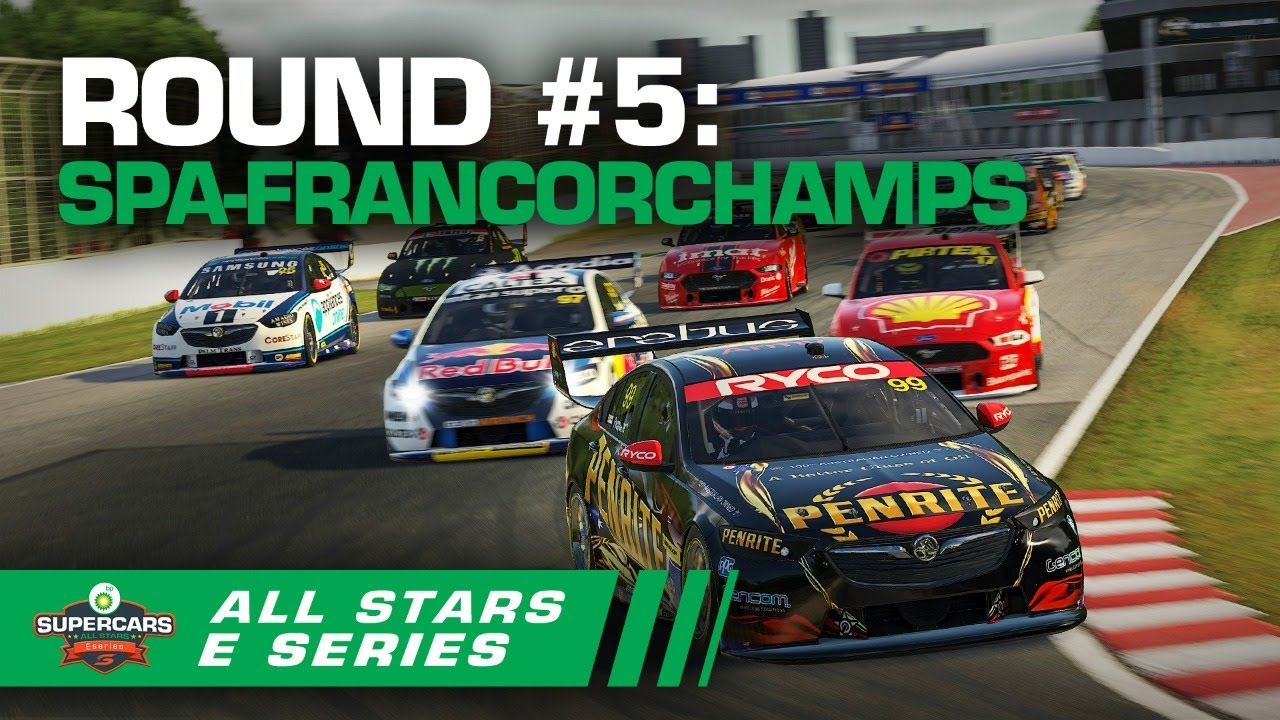 Round #5 [Race #15 + #16 + #17]: Spa-Francorchamps - BP All Stars Eseries | Supercars 2020