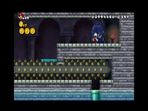 New Super Mario Bros Wii World 4 Castle All Star Coins Youtube