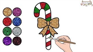 Drawing and Coloring for Kids | Candy Cane Christmas