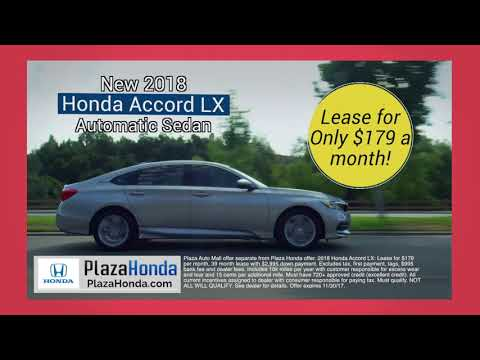 Plaza Honda -  Honda Accord, Lease for ONLY $179.00 Per Month!