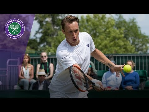 Henri Kontinen wonder shot in Wimbledon 2017 mixed doubles