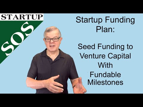 A Startup Funding Plan: Seed Funding/Convertible Note/SAFE to VC with Fundable Milestones