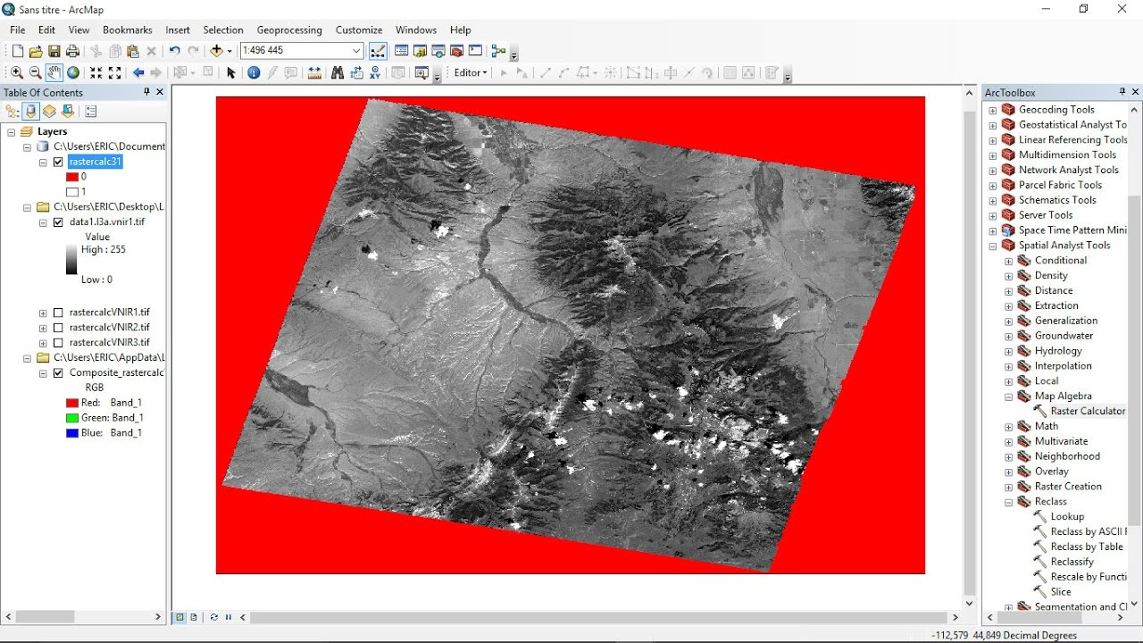 ArcGis How to remove Nodata from Landsat using Raster Calculator