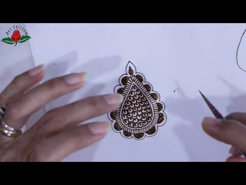 practice 4: Practice and learn  simple intricate mehendi design :Hindi
