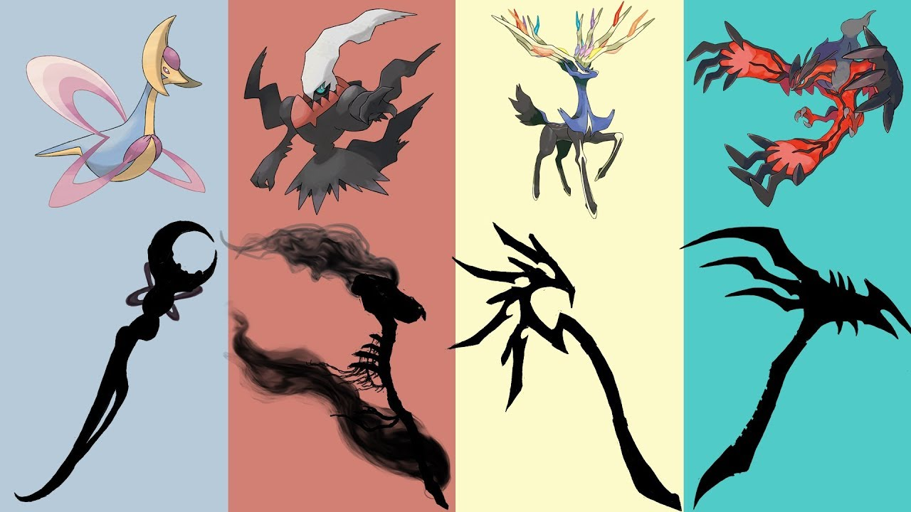 Cresselia And Darkrai Pokemon