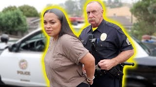 GETTING MY GIRLFRIEND ARRESTED PRANK *SHE CRIED* | HEATHER AND TRELL