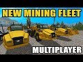 NEW UPDATED MINING MAP & NEW FLEET | MINING GOLD & STONE WITH THE CREW | FARMING SIMULATOR 2017