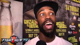 "Gary Russell Jr ""If Gonzalez is looking for that left hook, i"