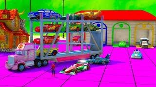 Disney Cars 3 Transportation and Spiderman Cartoon for Kids & ...