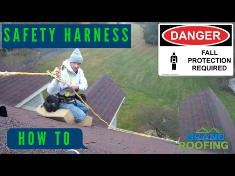 Rooftop Safety - Safety Harness - DIY Guardian Fall Protection