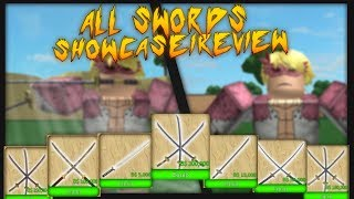 Roblox One Piece Grand Trial | ALL SWORDS AND SWORD STYLES SHOWCASE/REVIEW