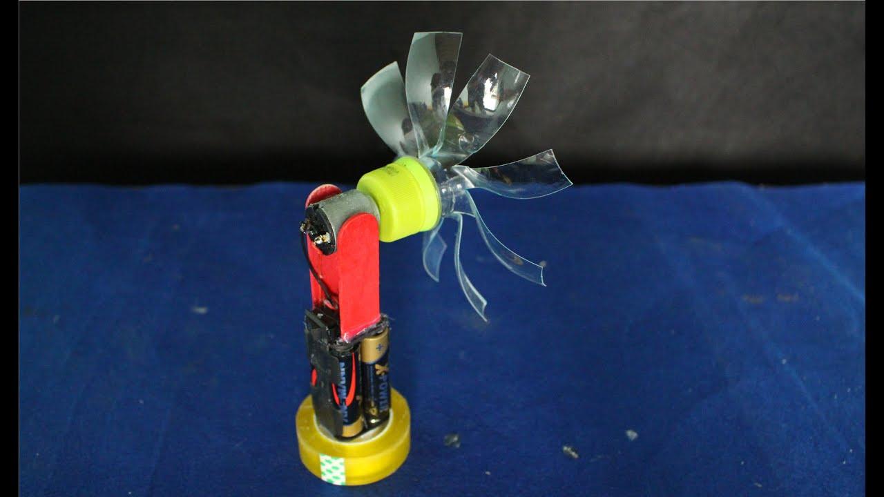 Comment faire un mini ventilateur lectrique  jouet maison  YouTube