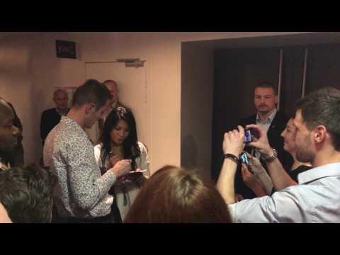 Anggun met her fans after concert in Lille,France