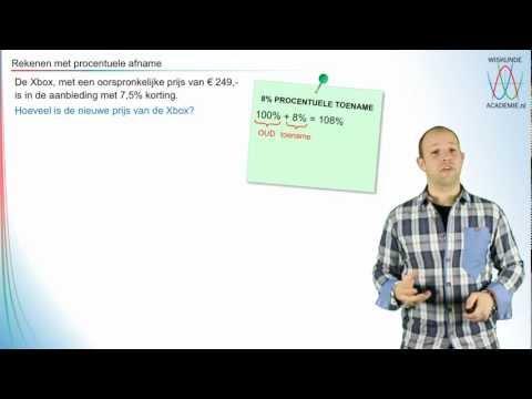 Procenten - rekenen met procentuele afname - WiskundeAcademie