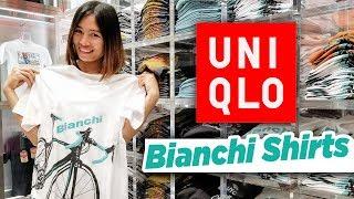 Bianchi Road Bike Cycling Shirts at Uniqlo | ビアンキ ロードバイク Tシャツ【ユニクロ】