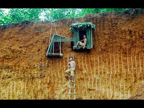 Build Uderground House On The Cliff To Avoid Wildlife