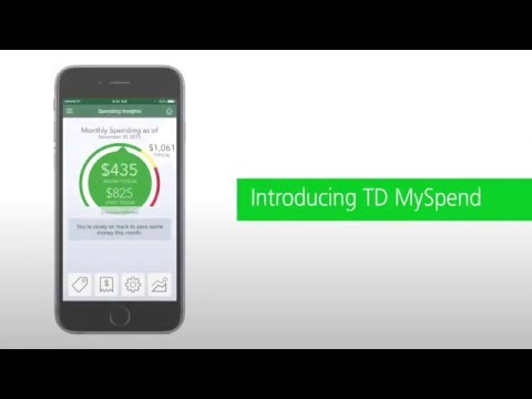 The New TD MySpend App