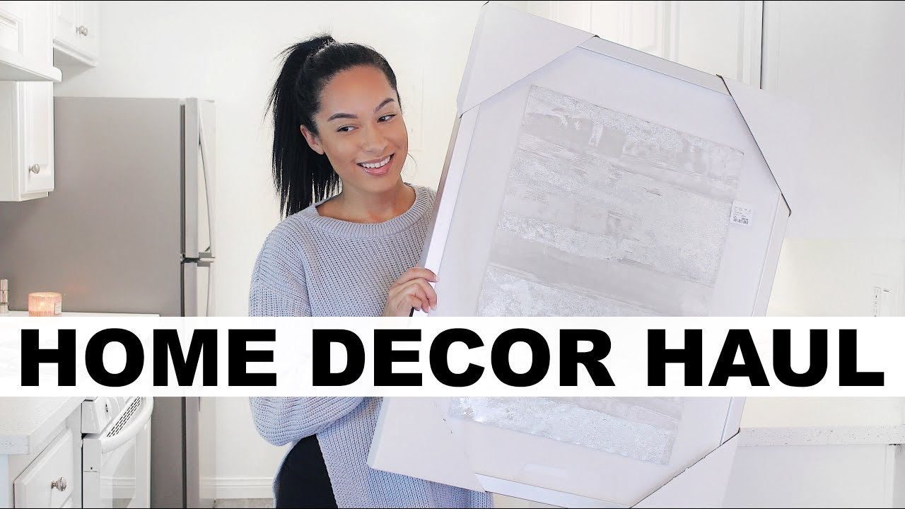 Home Decor Haul Amazon Marshalls Homegoods Youtube