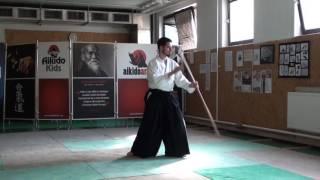 zengo no ido tsuki gedan gaeshi [TUTORIAL] Aikido advanced weapon technique
