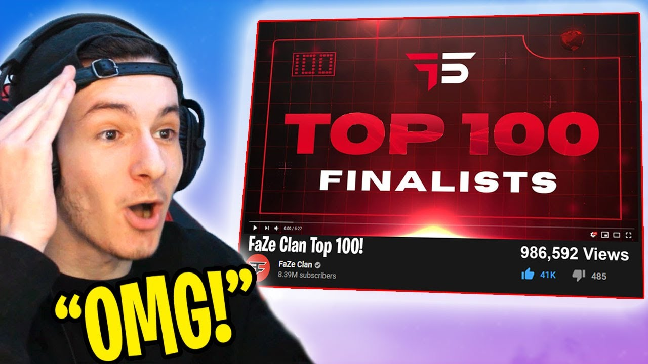 REACTING TO JOINING FaZe Clan TOP 100 (ft. Flea, Milliam)